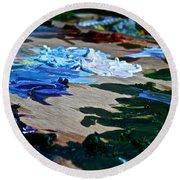 Plein Air Palette Round Beach Towel