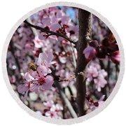 Plum Blossoms 6 Round Beach Towel