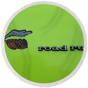 Plymoouth Road Runner In Lime Green Round Beach Towel