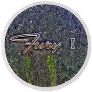 Plymouth Fury Logo Round Beach Towel