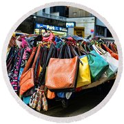Pocketbooks And Purses Round Beach Towel