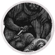 Poe: Rue Morgue, 1841 Round Beach Towel