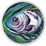 Poetic Chaos Round Beach Towel