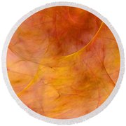 Poetic Emotions Abstract Expressionism Round Beach Towel