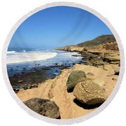 Point Loma Tidepools Round Beach Towel