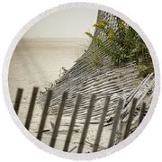 Point Pleasant Beach Round Beach Towel by Heather Applegate