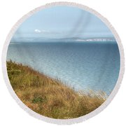 Point To The Polar Bear Round Beach Towel