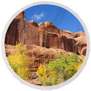 Poison Spider Mesa In The Fall Round Beach Towel by Gary Whitton