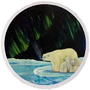 Polar Cinema Round Beach Towel