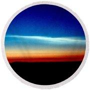 Polar Stratospheric Clouds Round Beach Towel