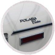 Polara Custom Emblem Round Beach Towel