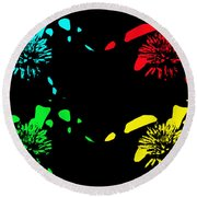 Pom Pom Pop Art Round Beach Towel