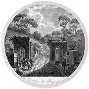 Pompeii: Herculaneum Gate Round Beach Towel