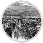 Pompeii: Ruins, C1880 Round Beach Towel