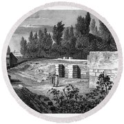 Pompeii: Stairs, C1830 Round Beach Towel