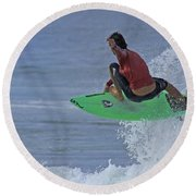 Ponce Surfer Soar Round Beach Towel