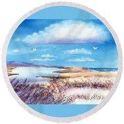 Pond At South Cape Beach Round Beach Towel
