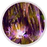 Pond Lily 22 Round Beach Towel