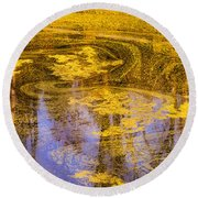 Pond Scum Two Round Beach Towel