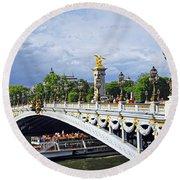 Pont Alexander IIi Round Beach Towel by Elena Elisseeva