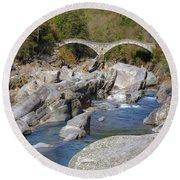 Ponte Dei Salti - Lavertezzo Round Beach Towel