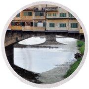 Ponte Vecchio 2 Round Beach Towel
