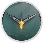 Pontiac Hood Ornament Lit Round Beach Towel