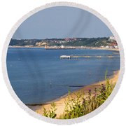 Poole Bay - June 2010 Round Beach Towel