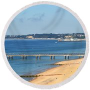 Poole Bay Round Beach Towel