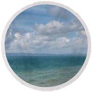 Poole Bay Panorama Round Beach Towel