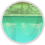 Poolside Seating Round Beach Towel
