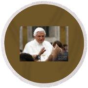 Pope Benedict Xvi Round Beach Towel