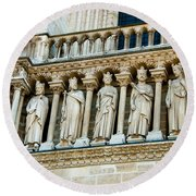 Popes At Notre Dame Cathedral Round Beach Towel