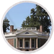 Poplar Forest From The Lawn Round Beach Towel