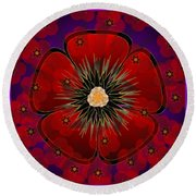 Poppies 2012 Round Beach Towel