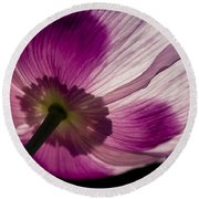 Poppy Detail 1 Round Beach Towel