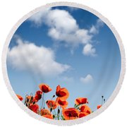 Poppy Flowers 04 Round Beach Towel