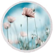 Poppy Flowers 10 Round Beach Towel by Nailia Schwarz