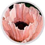 Poppy Pink Round Beach Towel
