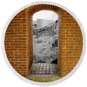 Portal To The Past Round Beach Towel