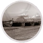 Old Port Of Trapani Round Beach Towel
