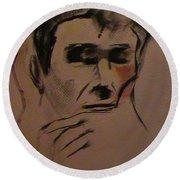 Portrait Of Frank Frazetta Round Beach Towel