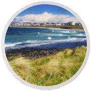 Portrush, Co Antrim, Ireland Seaside Round Beach Towel