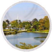Portsmouth Nh Pnhp Round Beach Towel