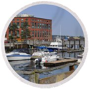 Portsmouth Waterfront Pwp Round Beach Towel