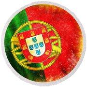 Portugal Flag  Round Beach Towel