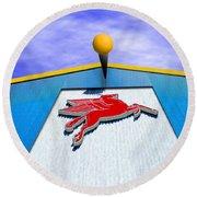 Poseidon's Steed Round Beach Towel