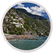 Positano Seaside Round Beach Towel