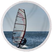 Powered By Wind Round Beach Towel