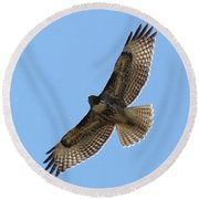 Powerful Freedom Round Beach Towel